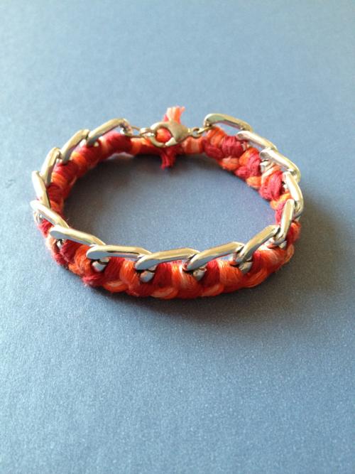 DYI # 1 Le bracelet chaîne et sa tresse en fil de coton