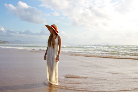 Look robe longue blanche