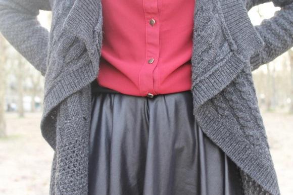 look jupe en cuir pop couture