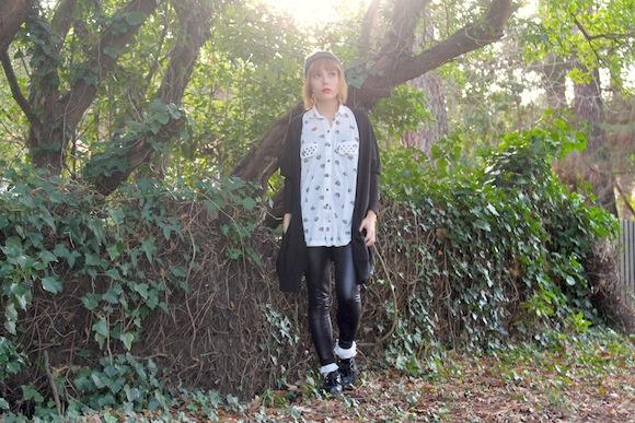 look chemise imprimé tigre