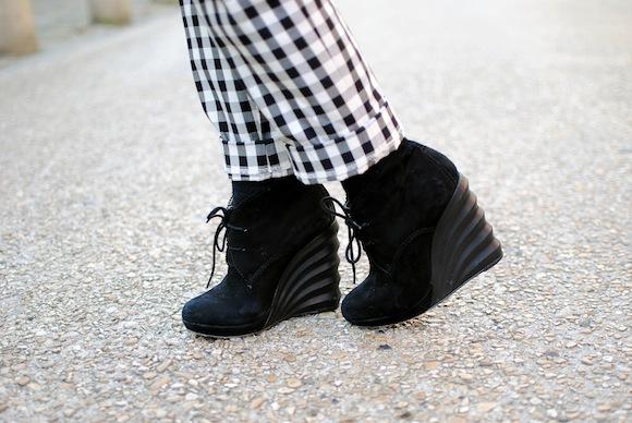 chaussure velours à talons