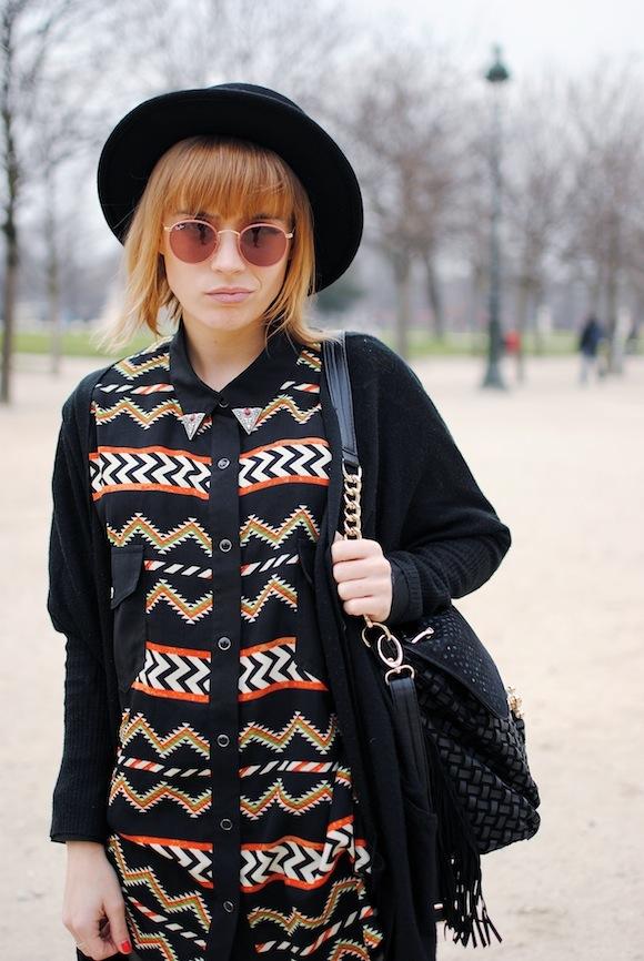 chemise motif azteque