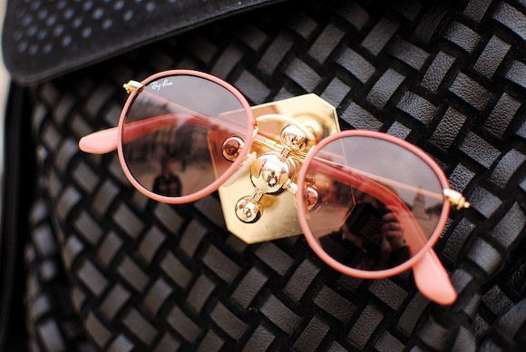 lunette de soleil rayban rose