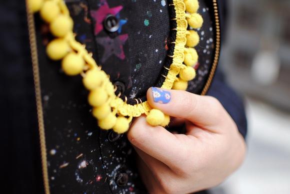 collier jaune DIY