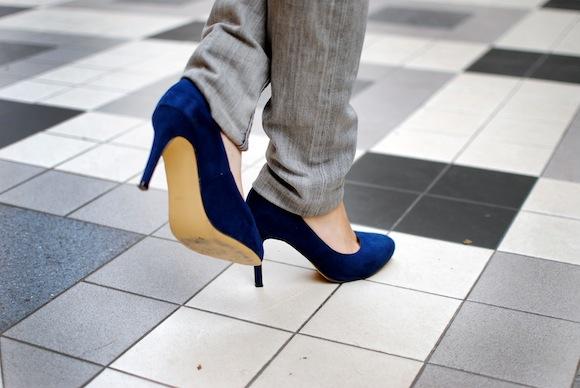 look escarpin bleu