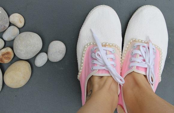 diy chaussure sirene  peinture seche