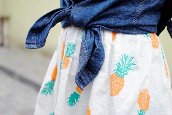 imprimé ananas