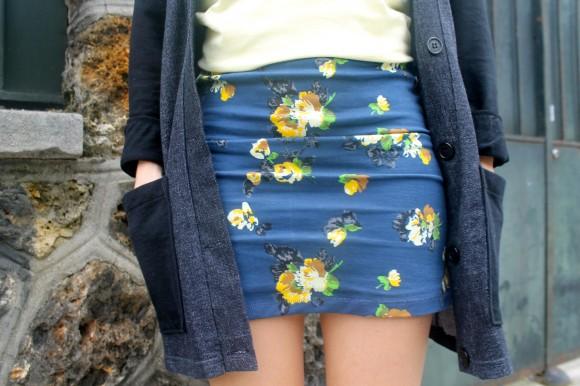 robe bleu à fleurs obey