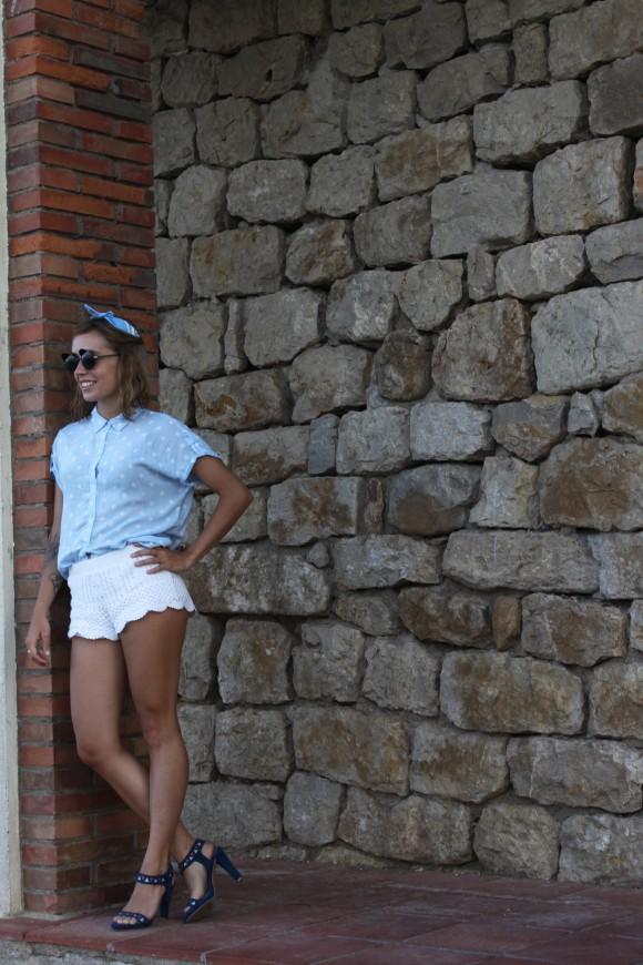 bandana bleu