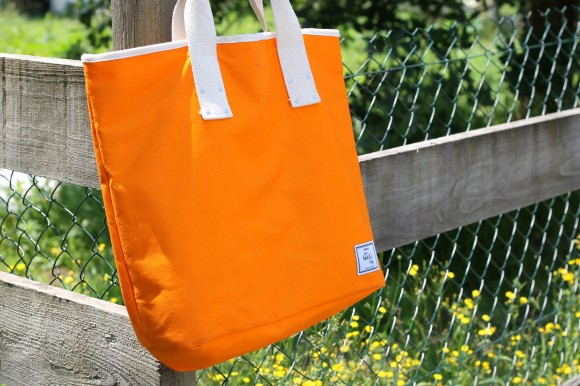 sac de plage orange biotiful bag