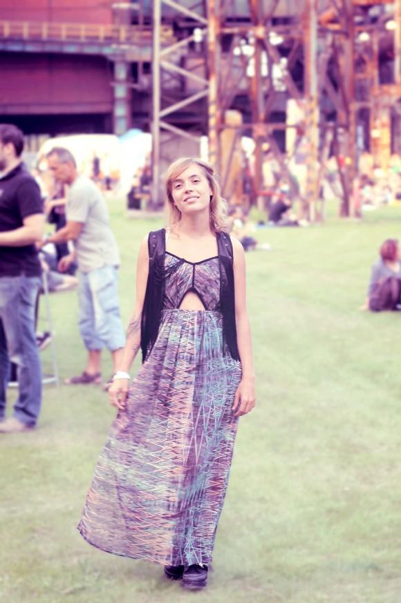 look de festival robe longue