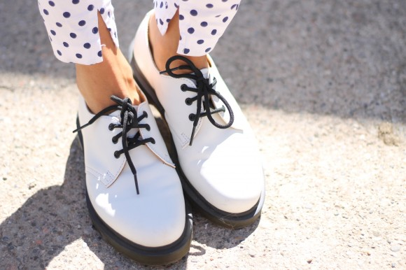 dr martens blanche