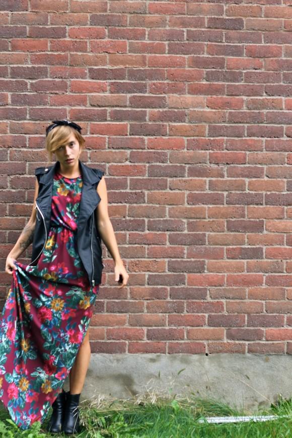 robe longue et bottine