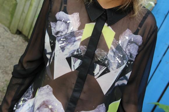 chemise imprimé neon