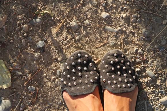 look chaussure à clous