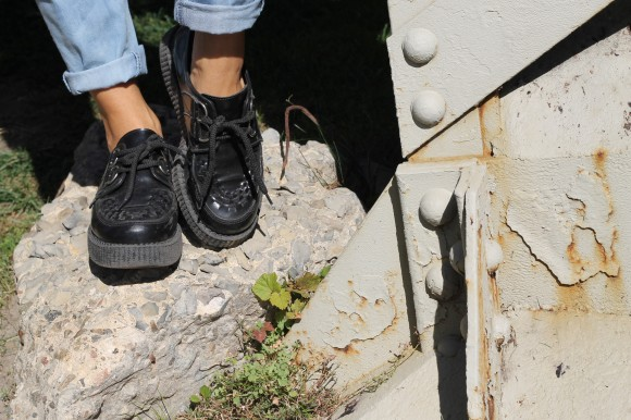 look creepers en cuir