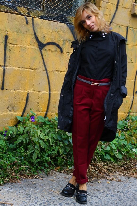 look pantalon taille haute