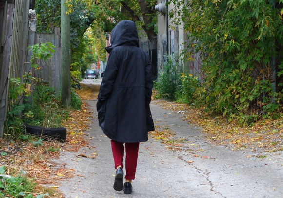 manteau de pluie look