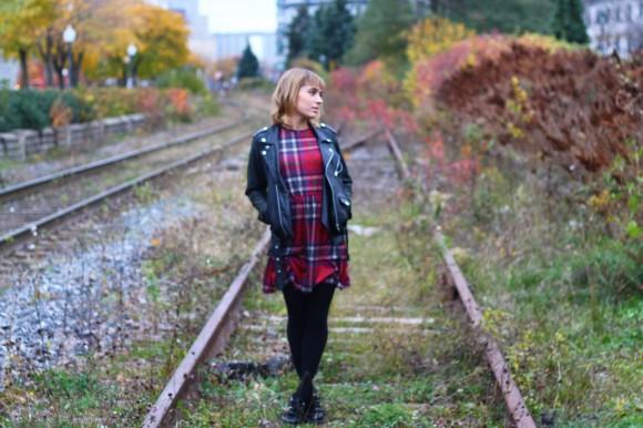 look sur un chemin de voie ferré