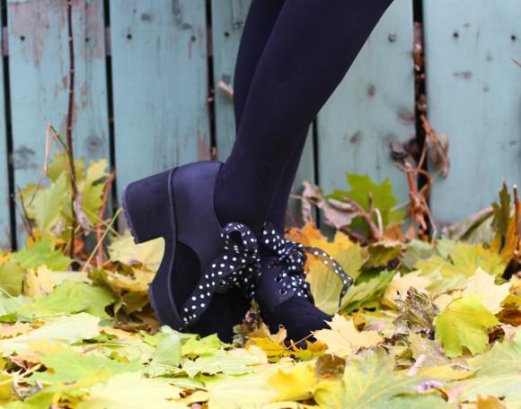 chaussures noires compensées shellys london
