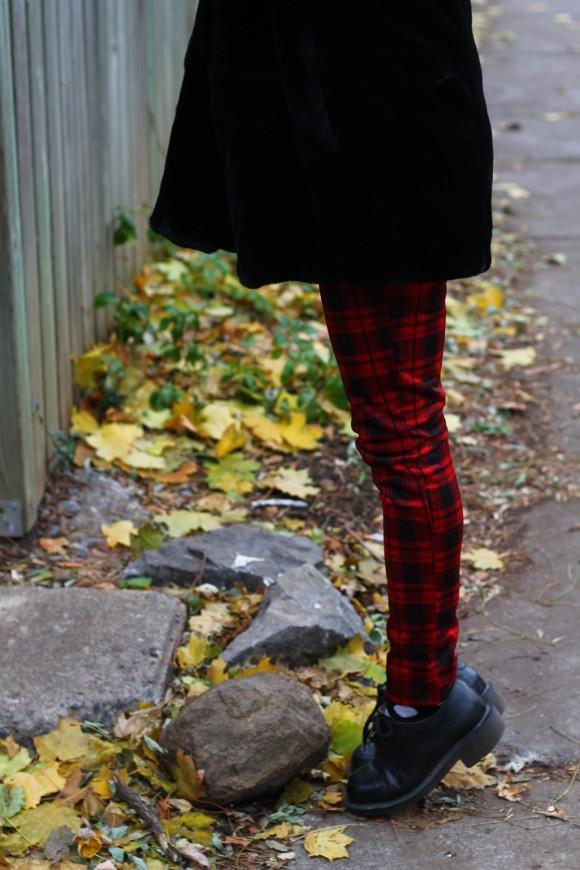pantalon slim tartan