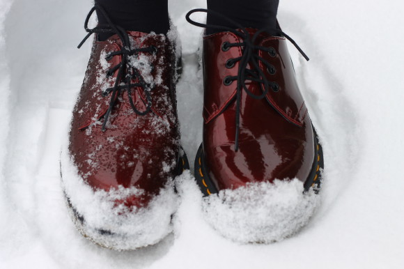 doc martens rouge vernies