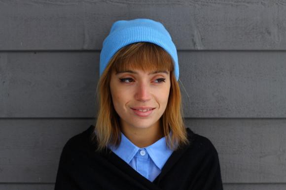 bonnet bleu ciel