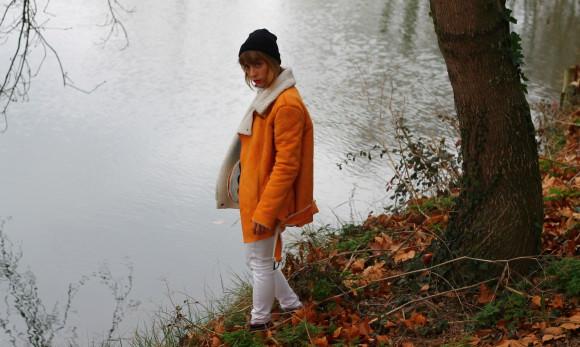 manteau oversize jaune