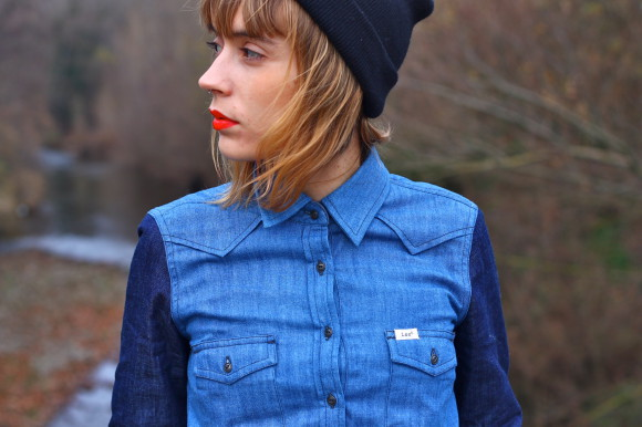 chemise deux couleurs de jeans