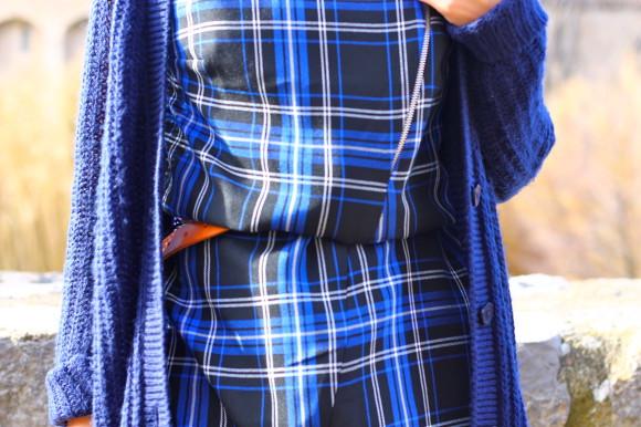look bleu et carreaux