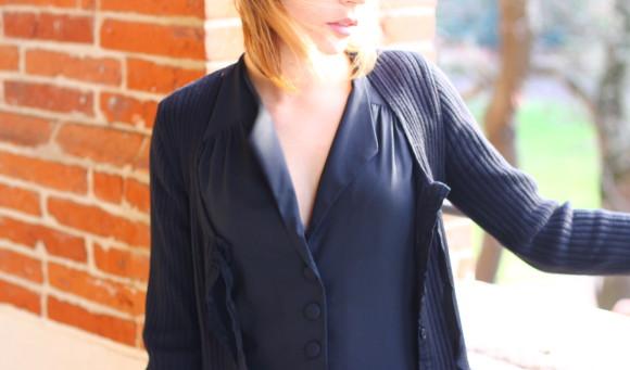 robe noire rockabilly look
