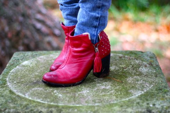 bottines rouges asos