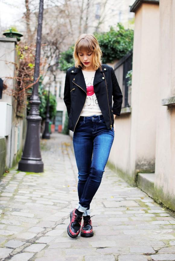 jeans skinny gstar et creepers tartan