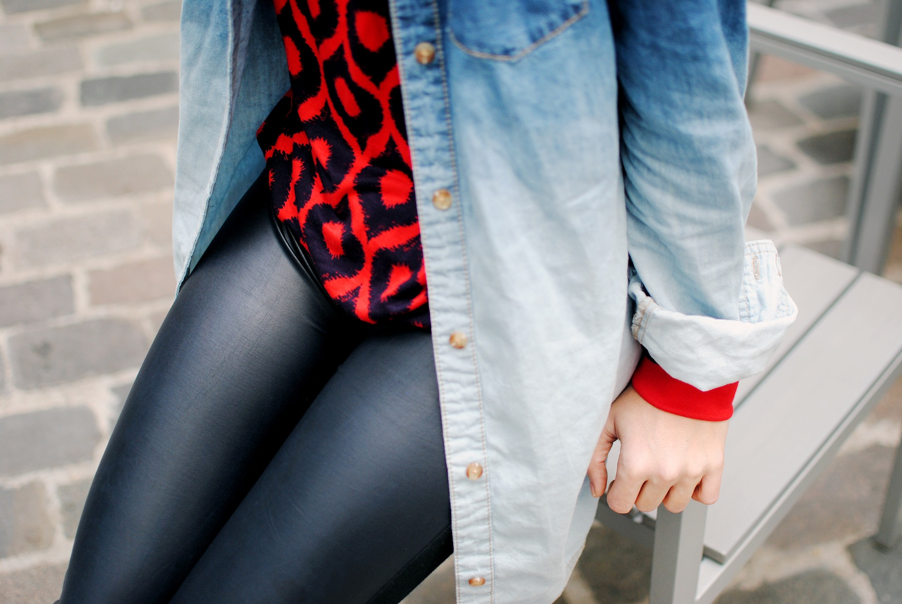 look leggings en cuir