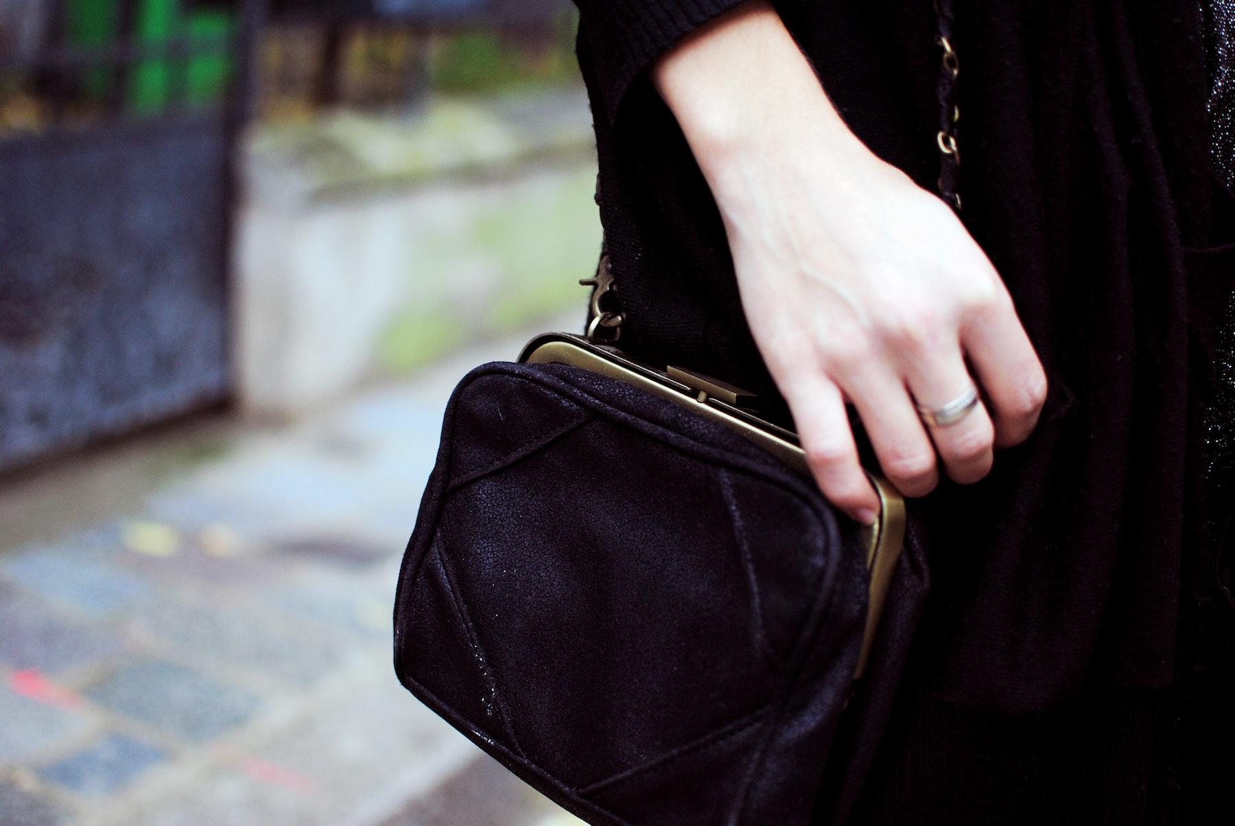 sac à main pochette noir zara