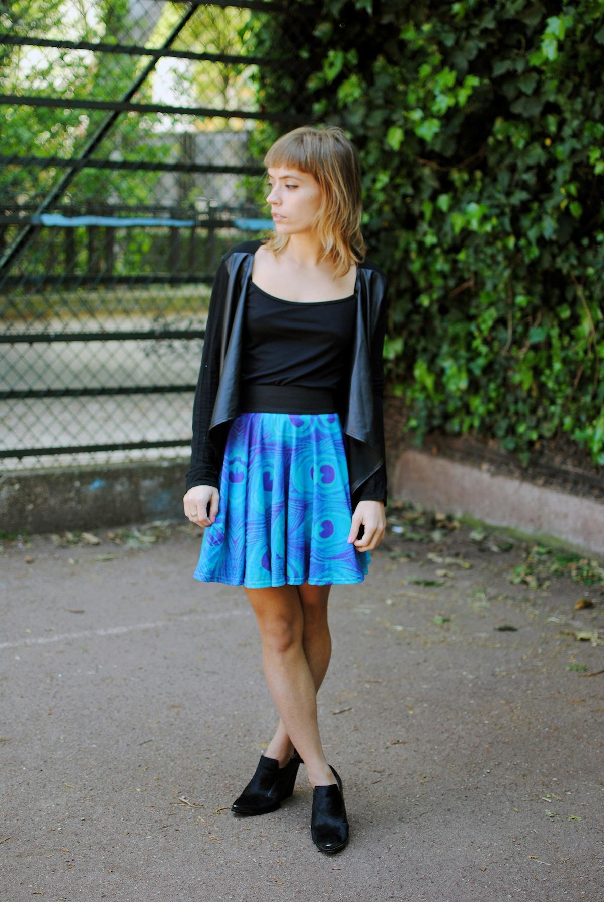 Blog mode paris jupe imprimé paon
