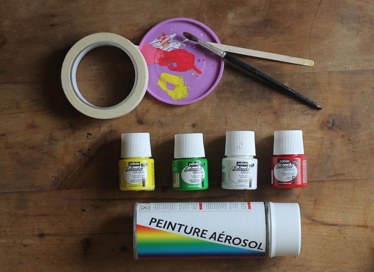 Custo escarpin imprimée gouttes de peinture le matériel