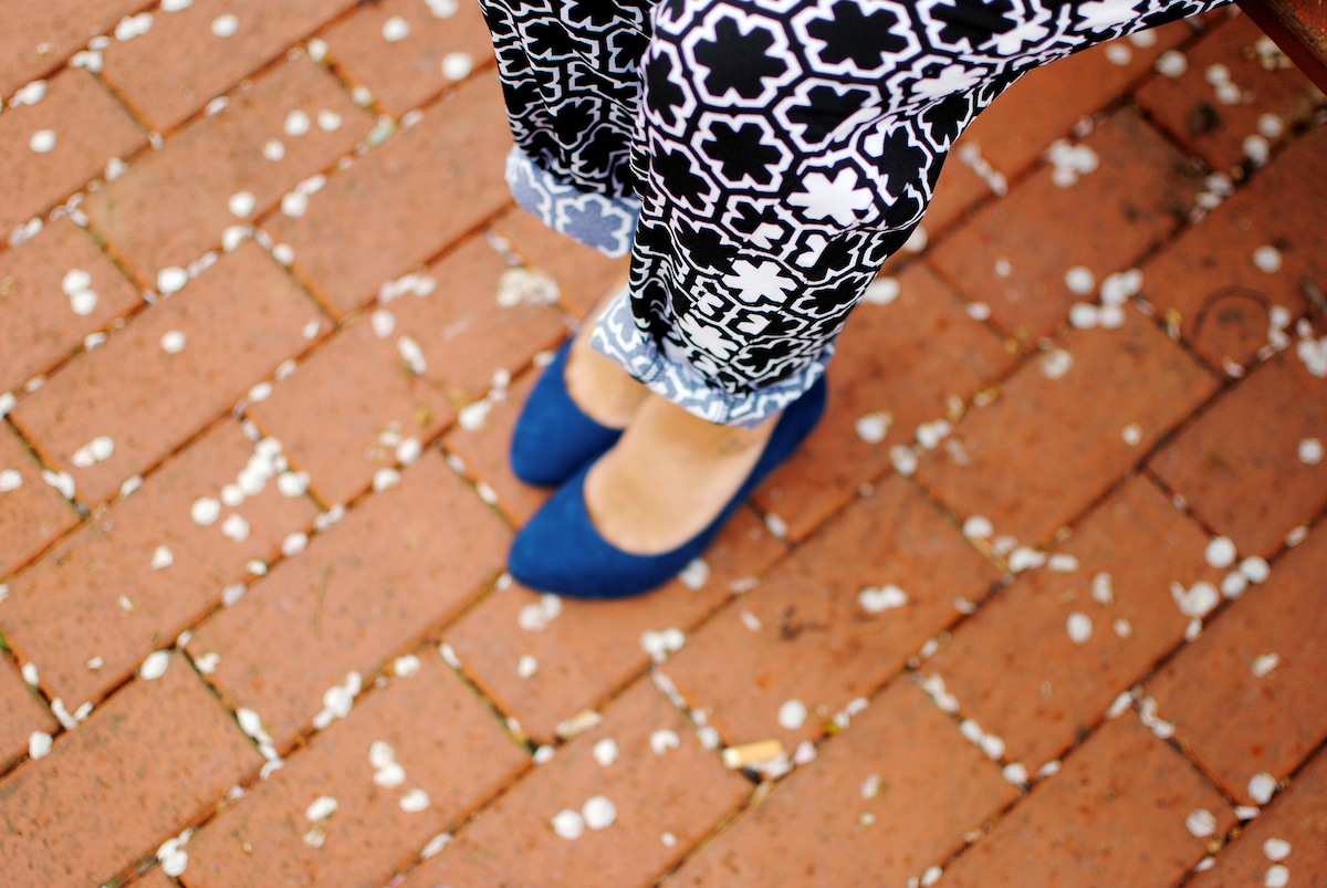 blog mode look imprimé