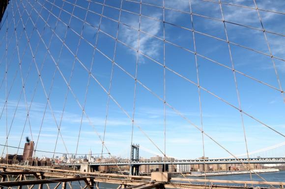vue depuis le pont de brooklyn