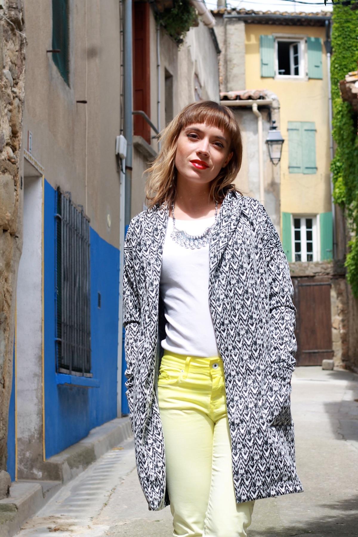 blog mode tendance veste longue imprimé