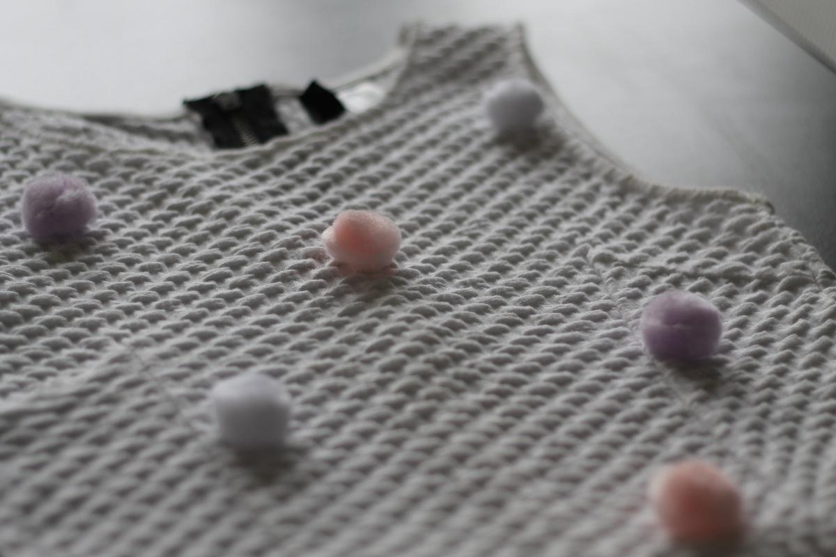 3 DIY la robe pompon choisir l'emplacement