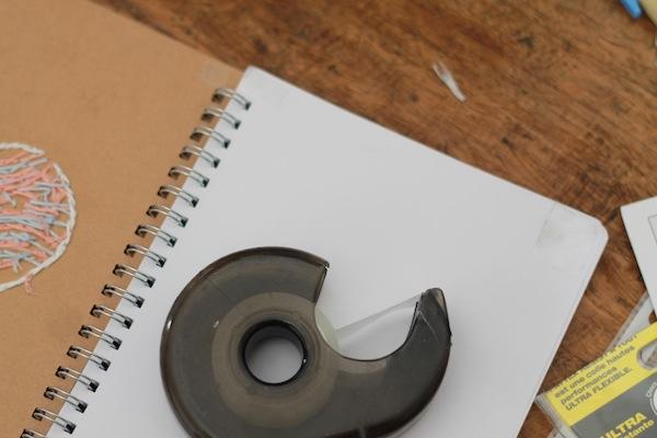 7 DIY le carnet brodé - finition page intérieure 2:2