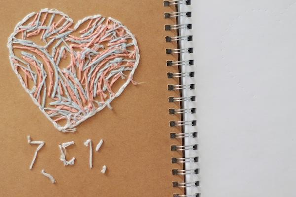 7 bis DIY le carnet brodé - finition page intérieure 1:2