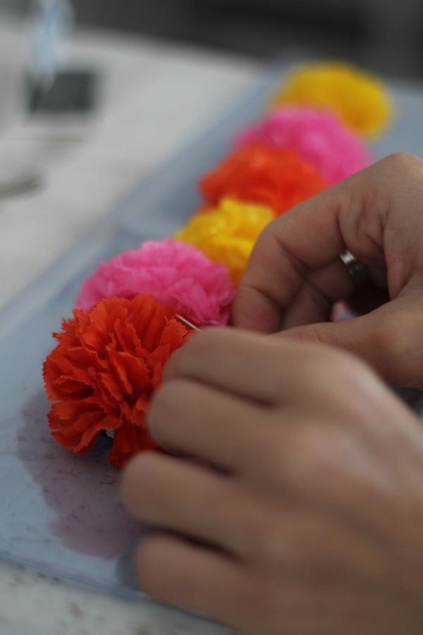 DIY Pochette transparente ajouter des fleurs 2:2
