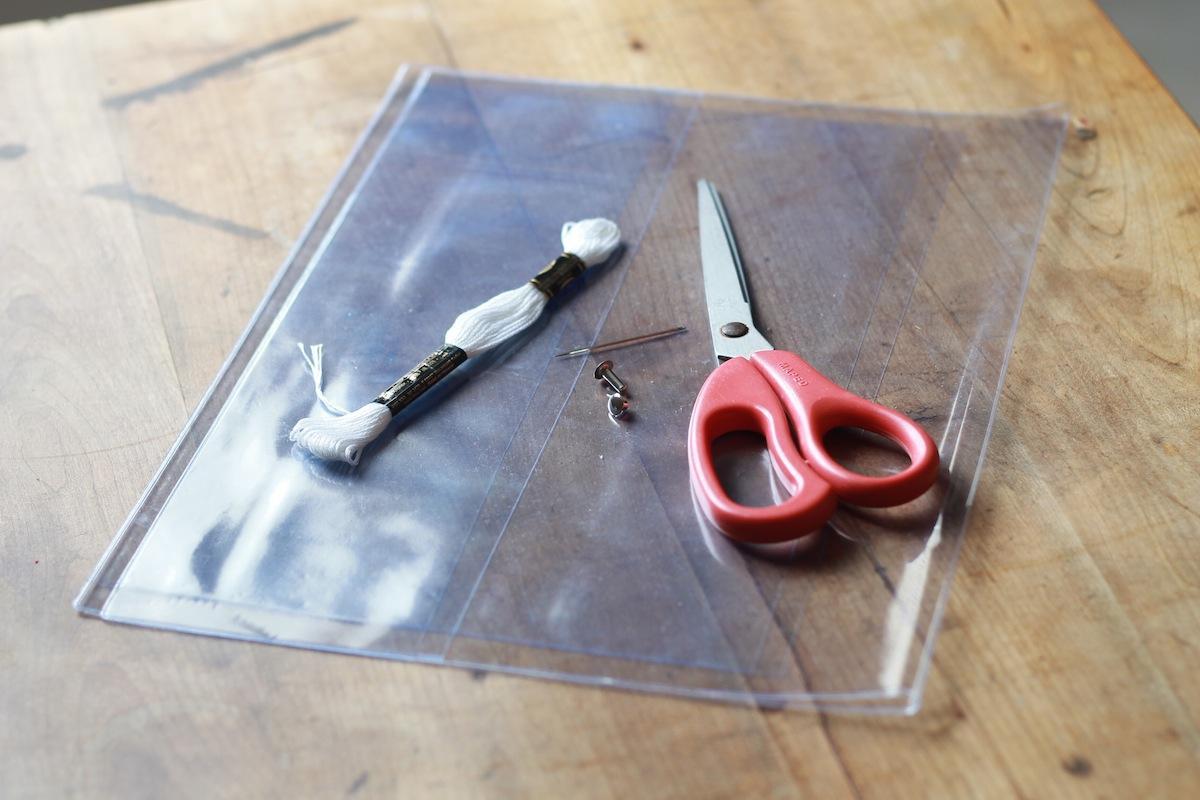 DIY Pochette transparente le matériel