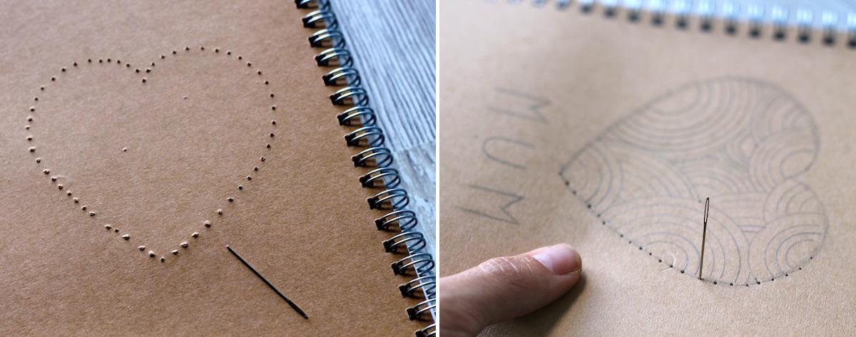 DIY le carnet brodé