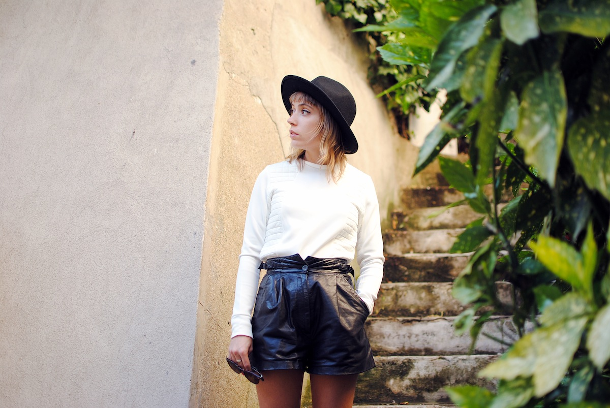 blog mode paris short taille haute en cuir