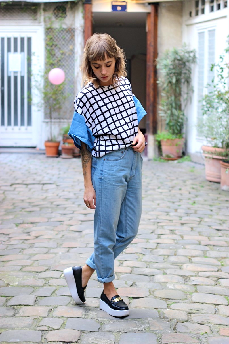 blog mode paris jean boyfriend et slip on