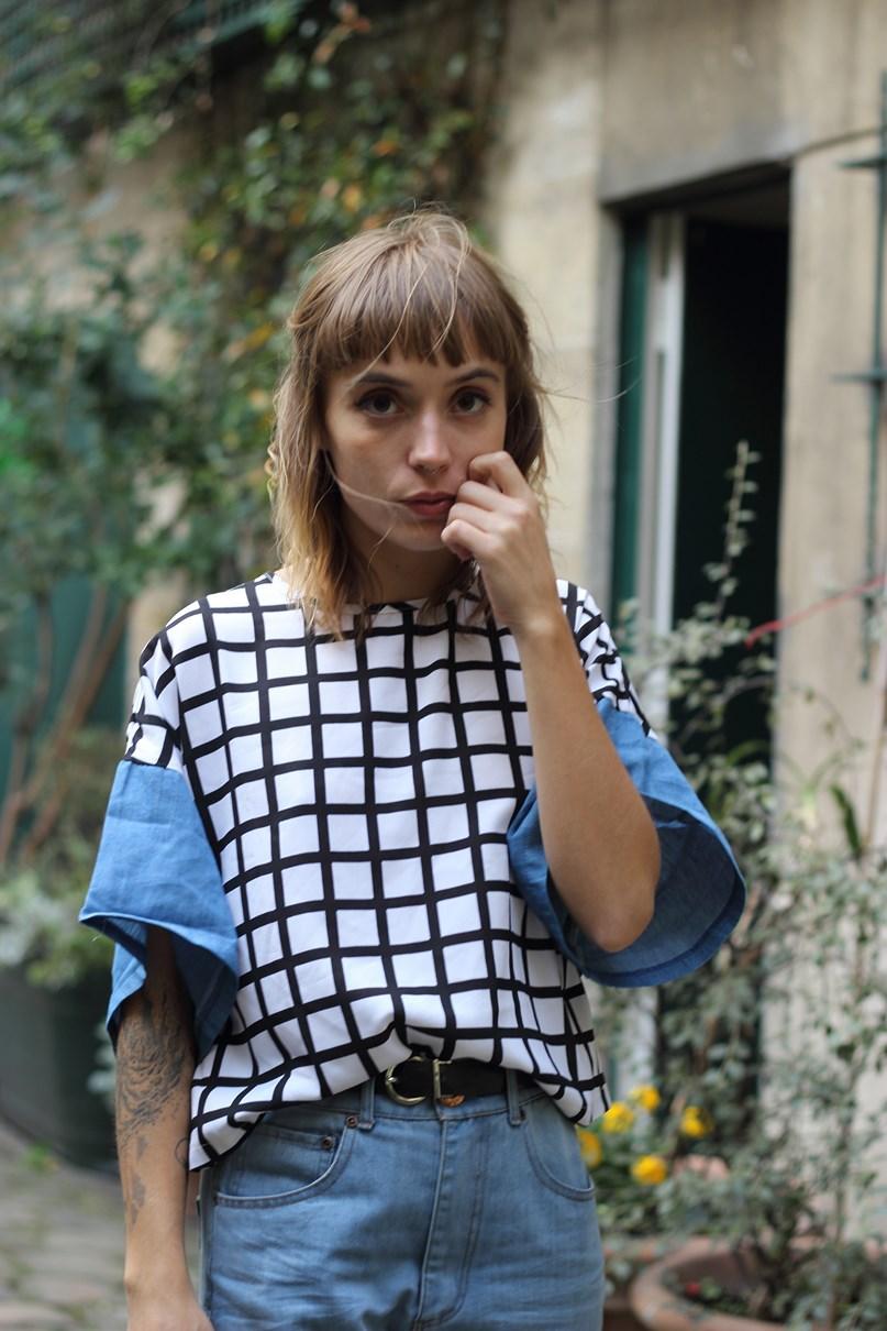 blog mode paris look imprimé quadrillage