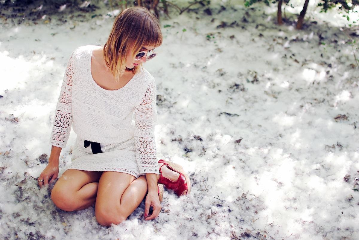 blog mode paris look robe à dentelle